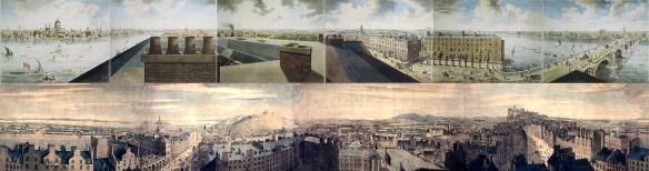 Robert Barker panorama de Londres y Edimburgo