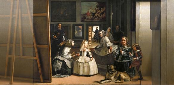 Velázquez con Mazo al fondo de las meninas