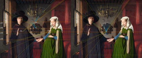Van Eyck Arnolfini y fugas comparadas